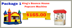 King Bounce House 13x14 + Popcorn Machine
